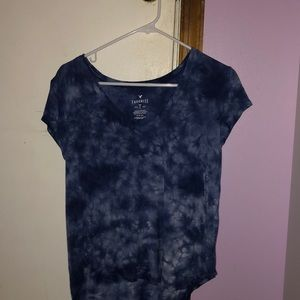 American eagle tie-dyed top.